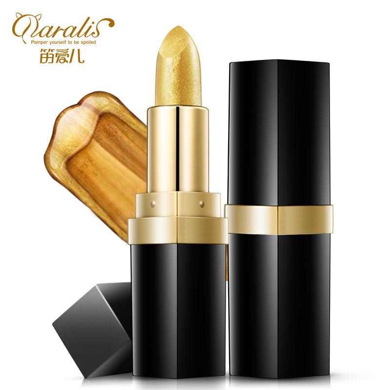 Золотистый увлажняющий бальзам для губ Lip Plumper Gloss Длительный питательный фарш фото