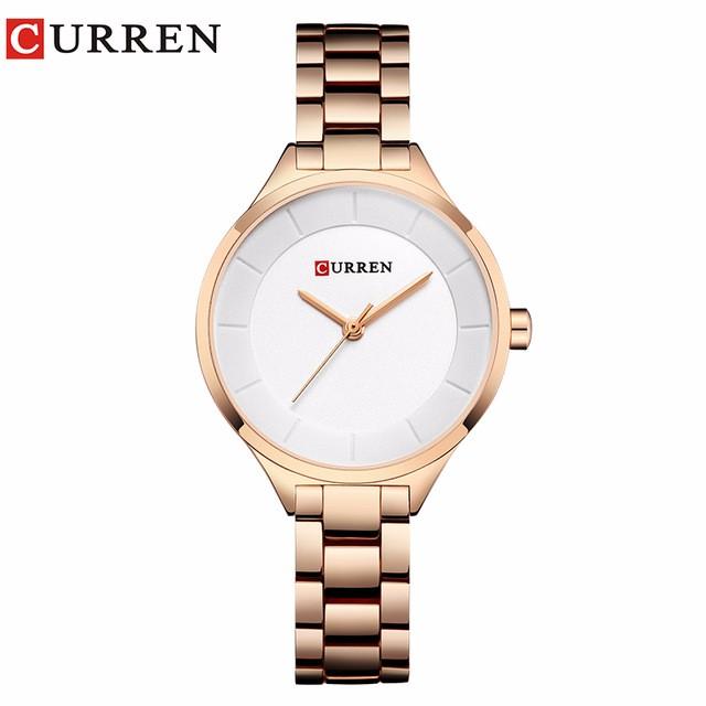 CURREN 05 curren 9015 watch women casual fashion quartz wristwatches ladies gift creative surface relogio feminino rose blue