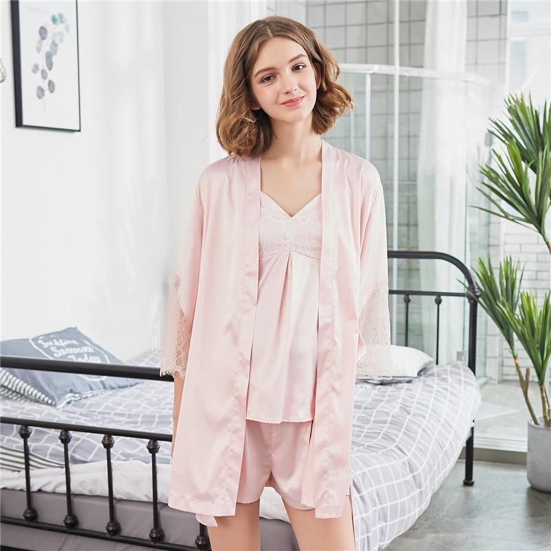 grlbobra розовый XL threegun женская хлопковая домашняя одежда
