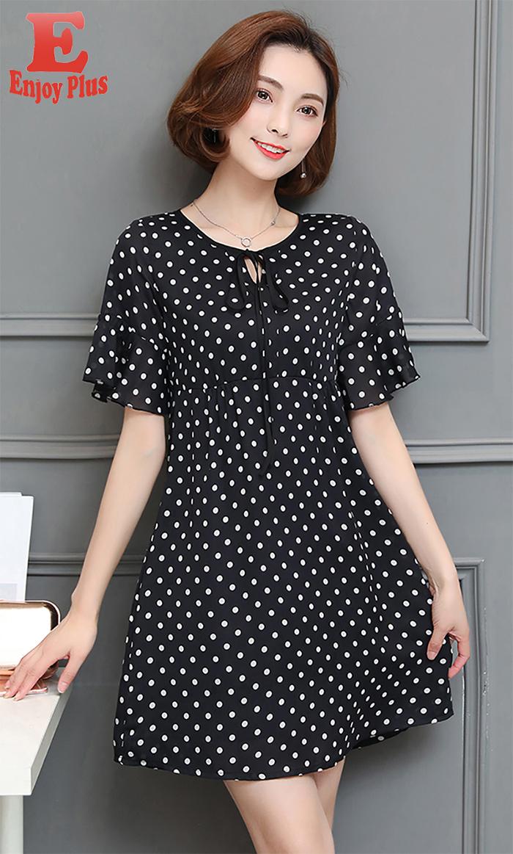 ENJOYPLUS Черный Номер 4XL женское платье andys 5xl m l xl xxl 3xl 4xl 5xl vestidos f27