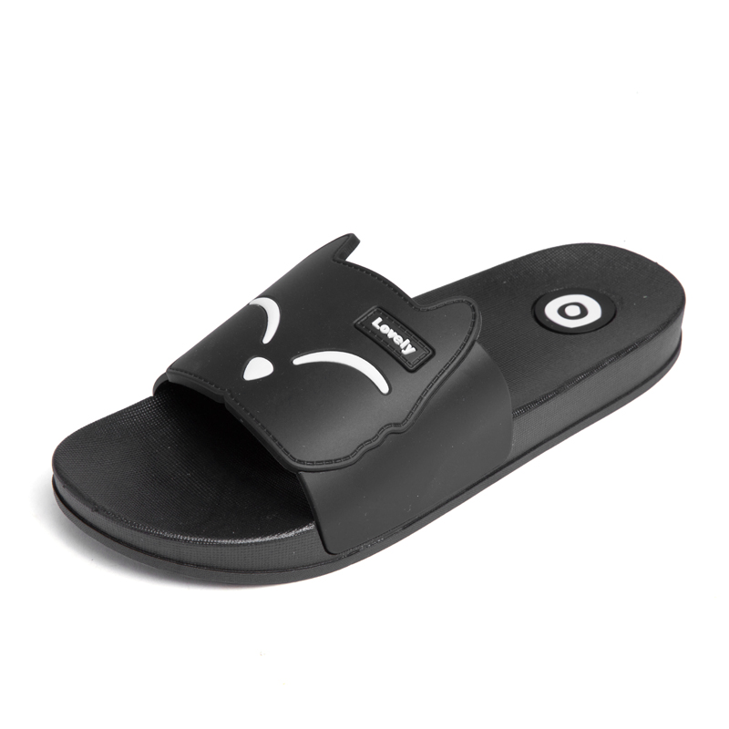 Dayocra черный 8 fashion 2018 emoji women slides summer smile face cute slippers women shoes flip flops sandals beach slides zapatillas mujer