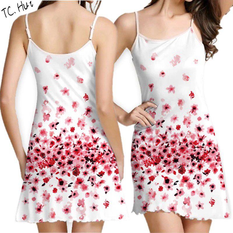 TCHui M lovaru ™новый 2015 мода новые печатные органза сладкий простой талии платье женщина casual платье