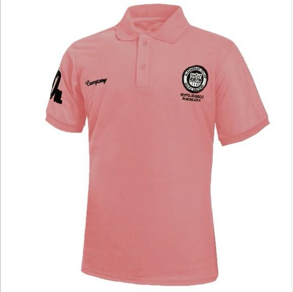 Рубашки поло T рубашки Модные короткие рукава Топы Рубашки поло Мужская личность Xuanxuan diary Розовый XL фото