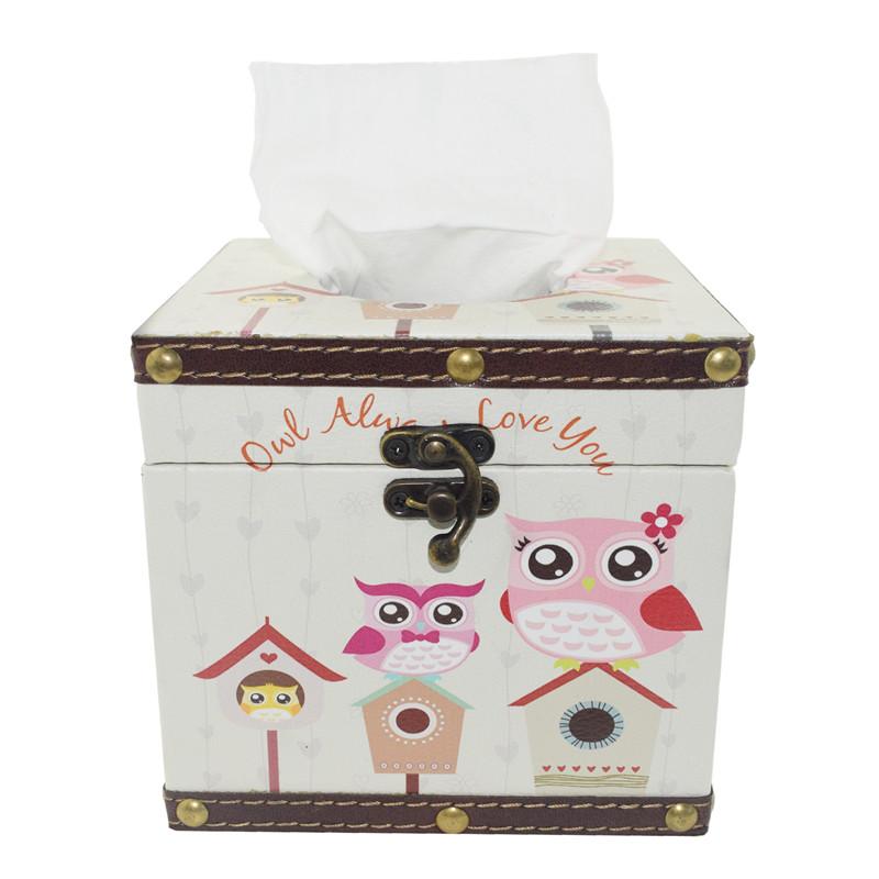 TOSJC кремового цвета Северная Европа IKEA деревянный ящик ящик покрытия держатель ткани ретро ткань дело для салфеток