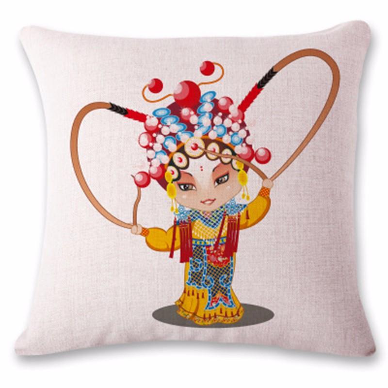kangfeng Розовой золотой цвет snowman cartoon christmas cushion throw pillow case