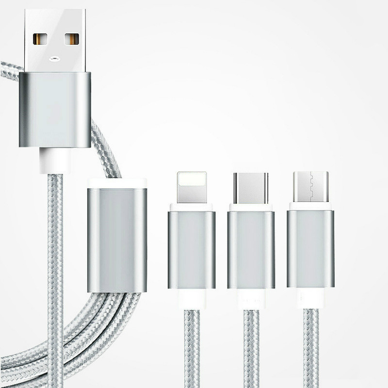 Usb кабель micro usb кабель usb c usb type c громоотвод кабель тип c кабель AFILADO Серебристый 12m фото