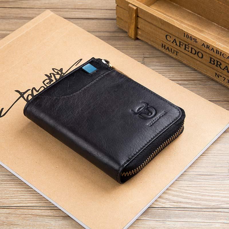 BULLCAPTAIN черный кошелек mano 20100 setru black
