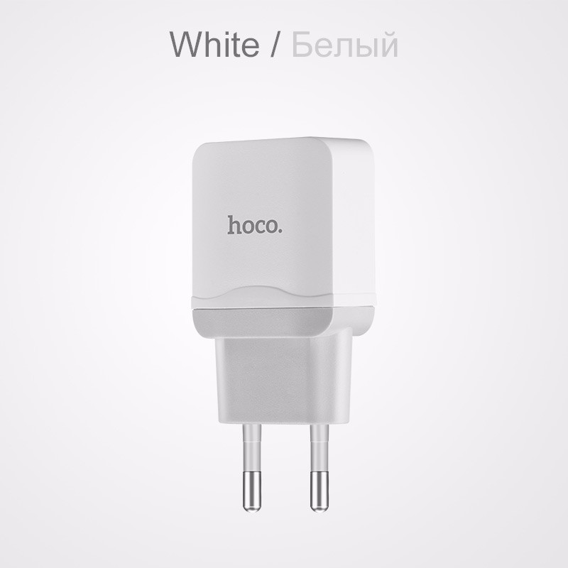 HOCO ONLY EU Charger Стандарт ЕС janse football foot style 15w dual usb eu plug power charger car charger white