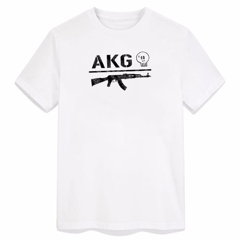 REDBELLA White M Geek Ak47 Pattern Hip Pop Прохладный Хлопок Поп Литература с Diy