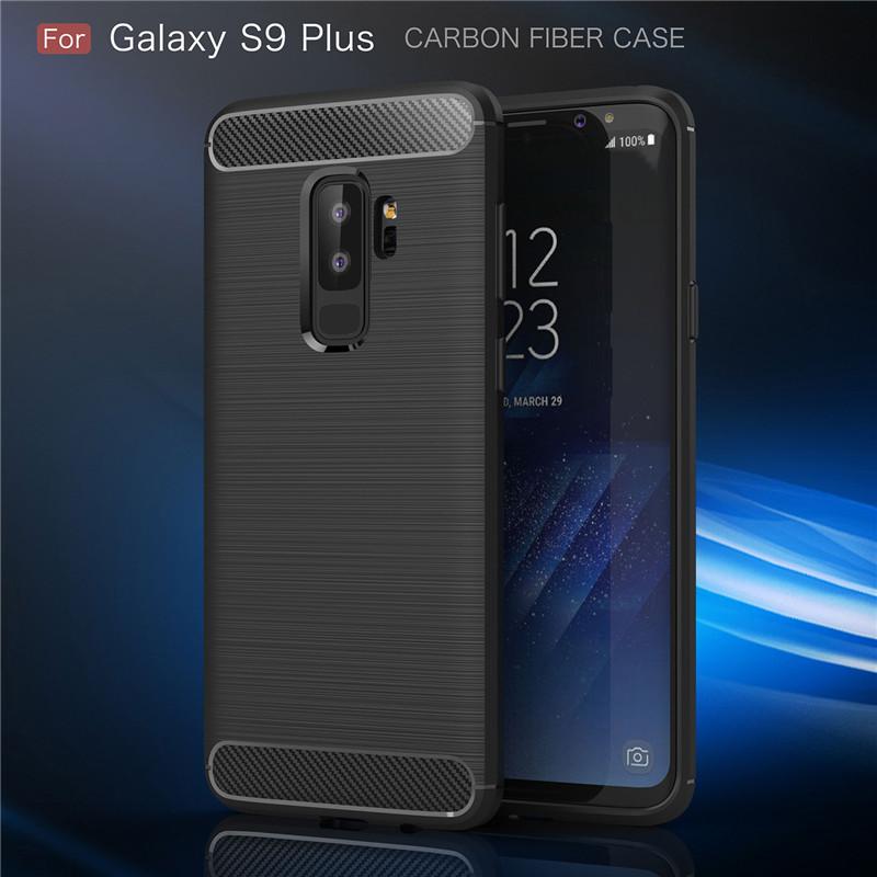 KYKEO Черный Samsung Galaxy S9 Plus Carbon Fiber Phone Case For Samsung Galaxy S9 Plus