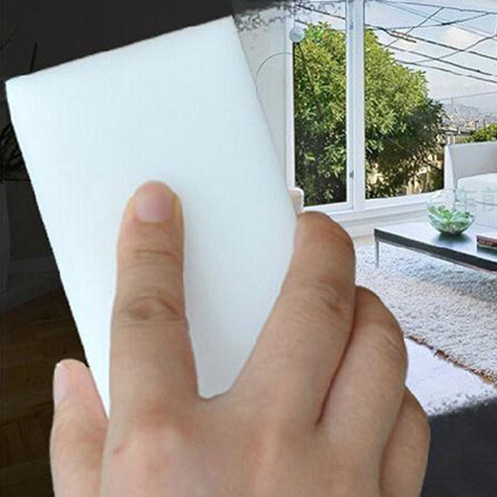 ejie vigan 100 pcs lot high quality melamine sponge magic sponge eraser dish cleaner for kitchen office bathroom cleaning 10x6x2cm