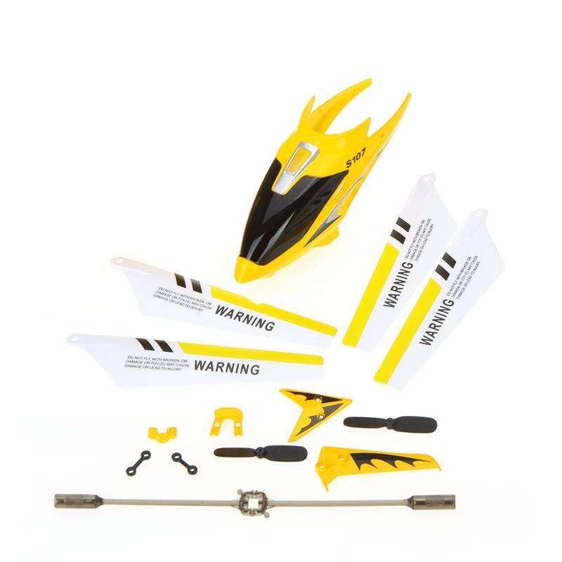 GoolRC Yellow full replacement parts set for syma s107 s107g rc helicopter blades quadcopter balance bar shaft gears s107 parts