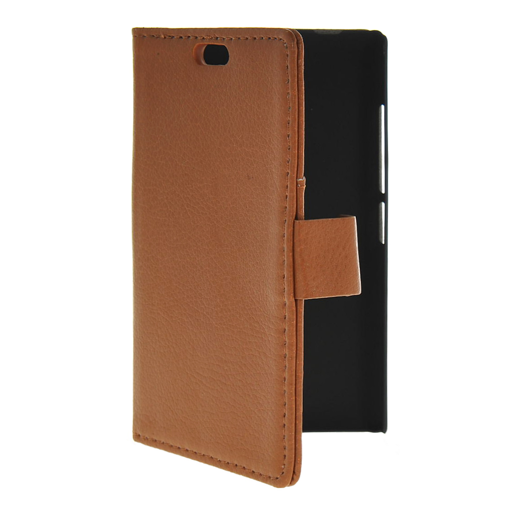 MOONCASE mooncase slim leather side flip wallet card slot pouch with kickstand shell back чехол для samsung galaxy a3 brown