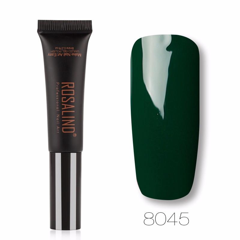 ROSALIND X6 Черный гель лак для ногтей pupa lasting color gel 019 цвет 019 sumptuous mane variant hex name c93a56