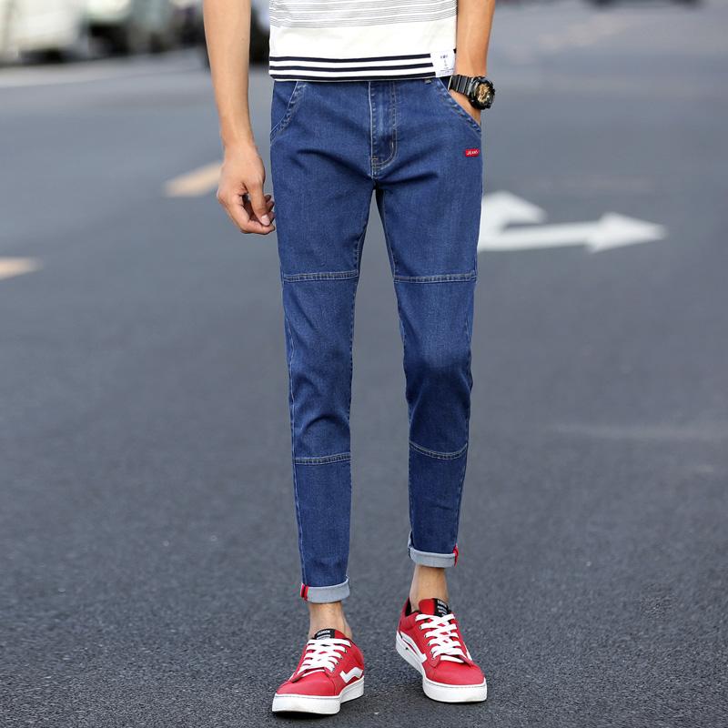 DaMaiZhang синий 32 geedo джинсы бизнес повседневная талия мода джинсы 9006 темно синий 32