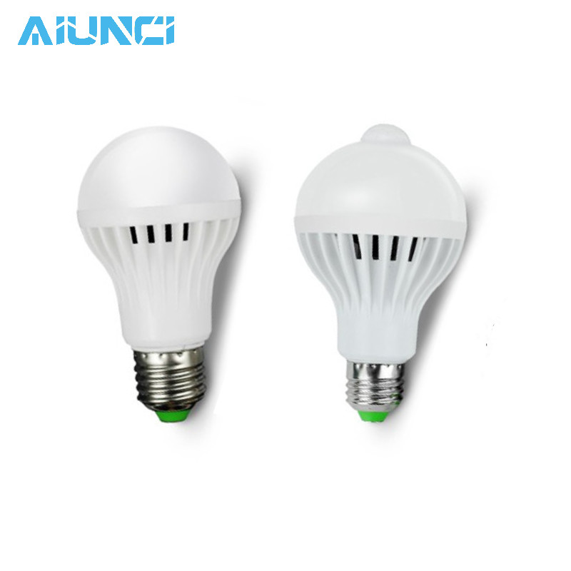 AIUNCI Белый цвет 7W Sound Sensor bulb светодиодная лампа 5736 smd более яркие 5730 led кукуруза лампа лампа лампа 3 5 вт 5 вт 7 вт 8 вт 12 вт 15 вт e27 e14 85 в 265 в нет мерцания постоянного ток