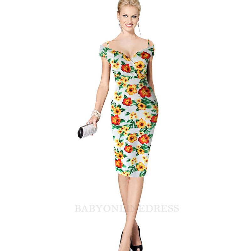 babyonline DRESS желтый S буэнос ниньос пояс оформлены юбку карандаш с коротким рукавом платье длиной до колен