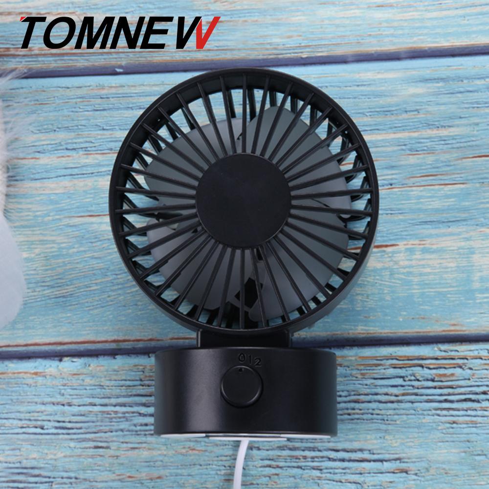TOMNEW черный Настольный USB-вентилятор Office Mini Fan Silent 2 Speed Desktop Fan с двухсторонним вентилятором
