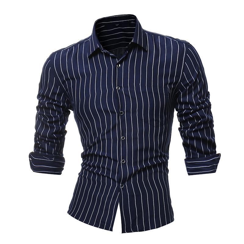 CANGHPGIN Темно-синий Номер 4XL bestn с длинными рукавами рубашка сплошной цвет удобная и удобная рубашка для бизнеса рубашка темно синий 56 190 108a