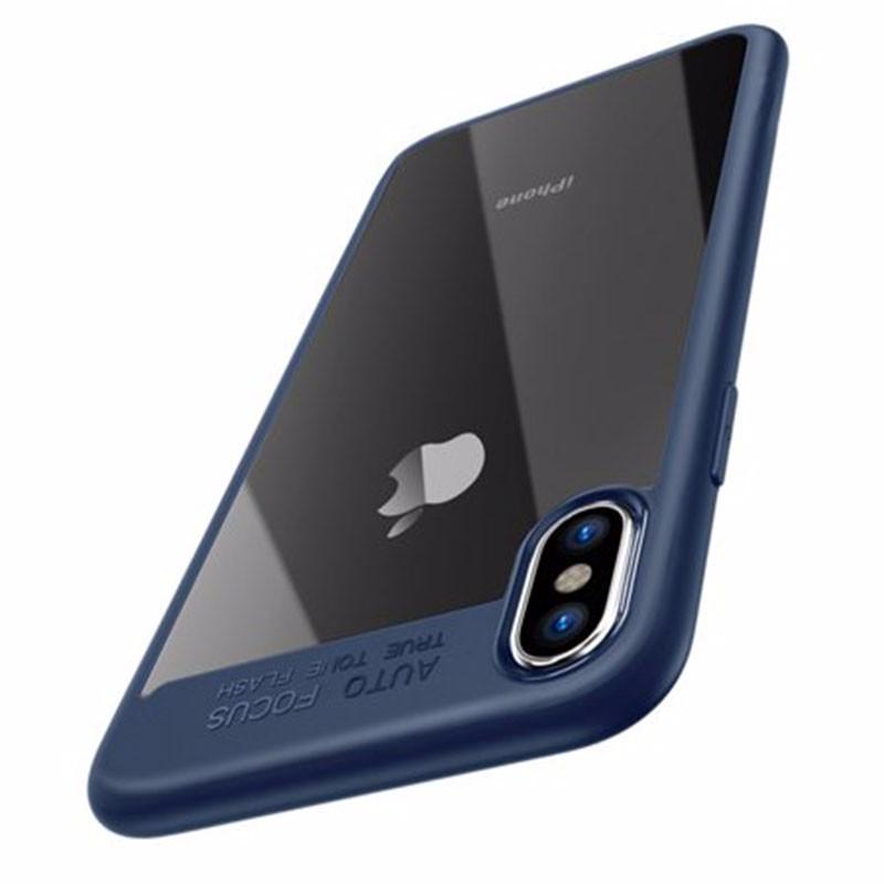 Oak Leaf Blue iPhone X shock absorber ad2580 absorber buffer bumper free shipping