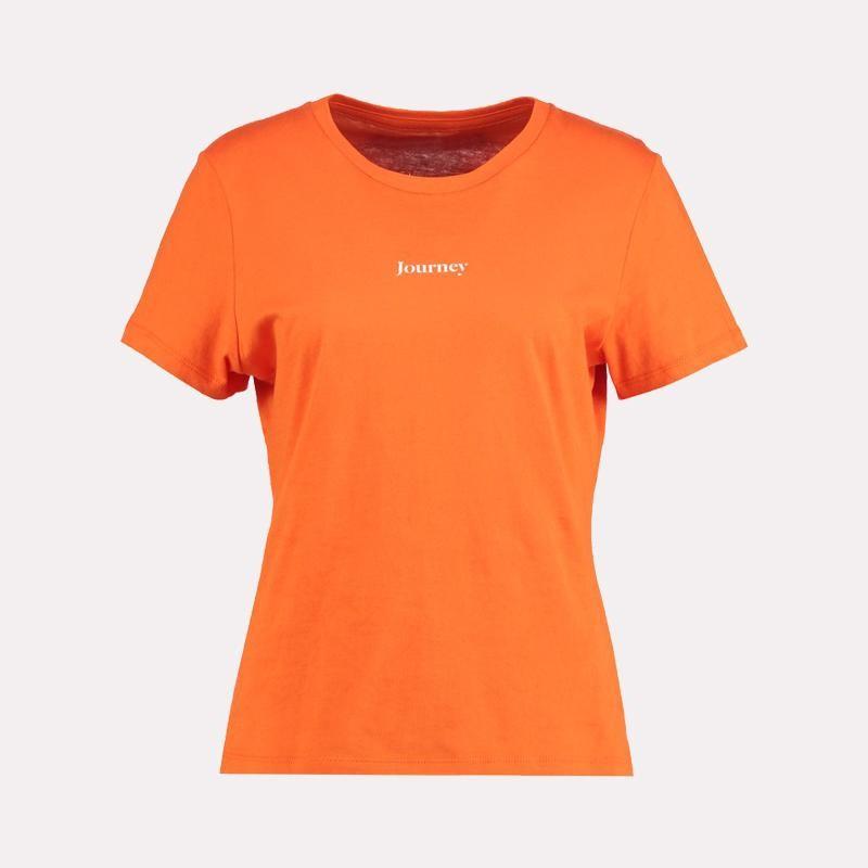 Tissbely оранжевый XL cotton letter patterned t shirt