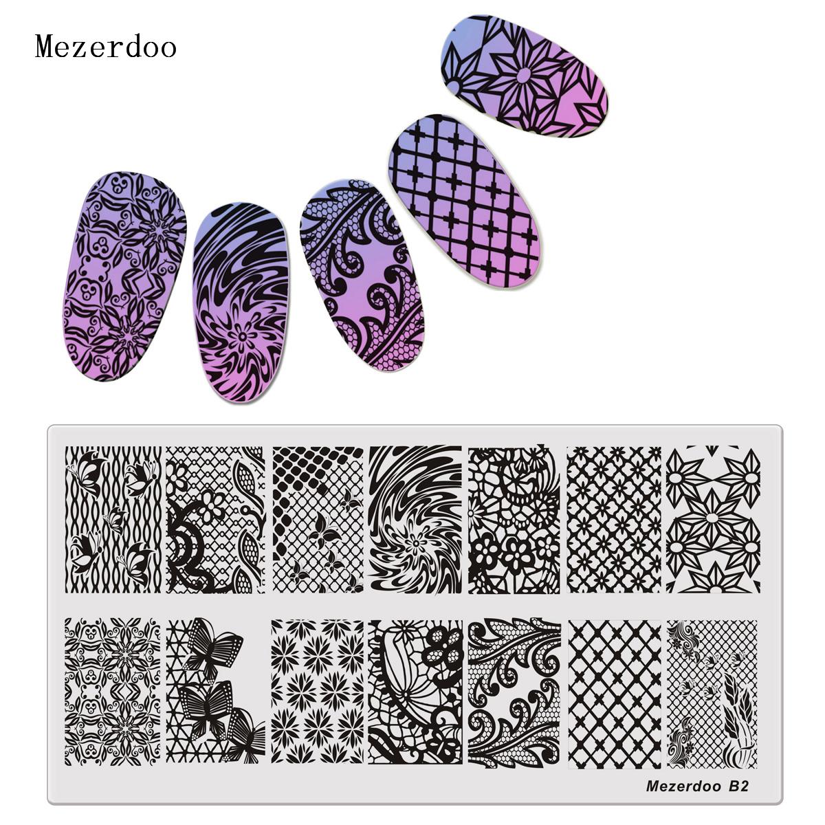 штамп для ногтей цветы лист шаблон для ногтей штамповка бабочка изображение штамповка печать nail art templates diy manicure stamp tools 12 6cm