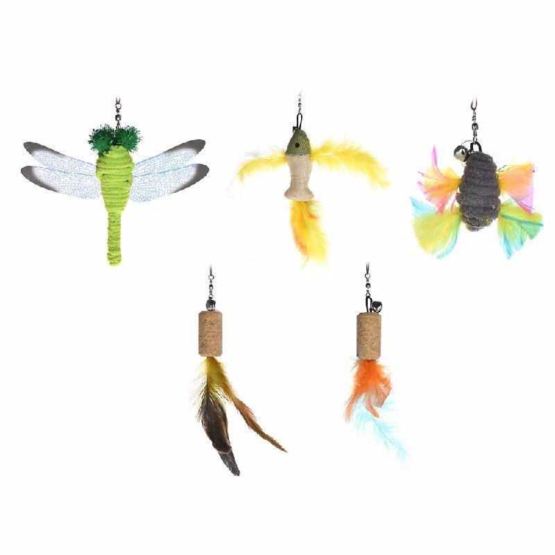 esonmus Многоцветный feather cat teaser toys
