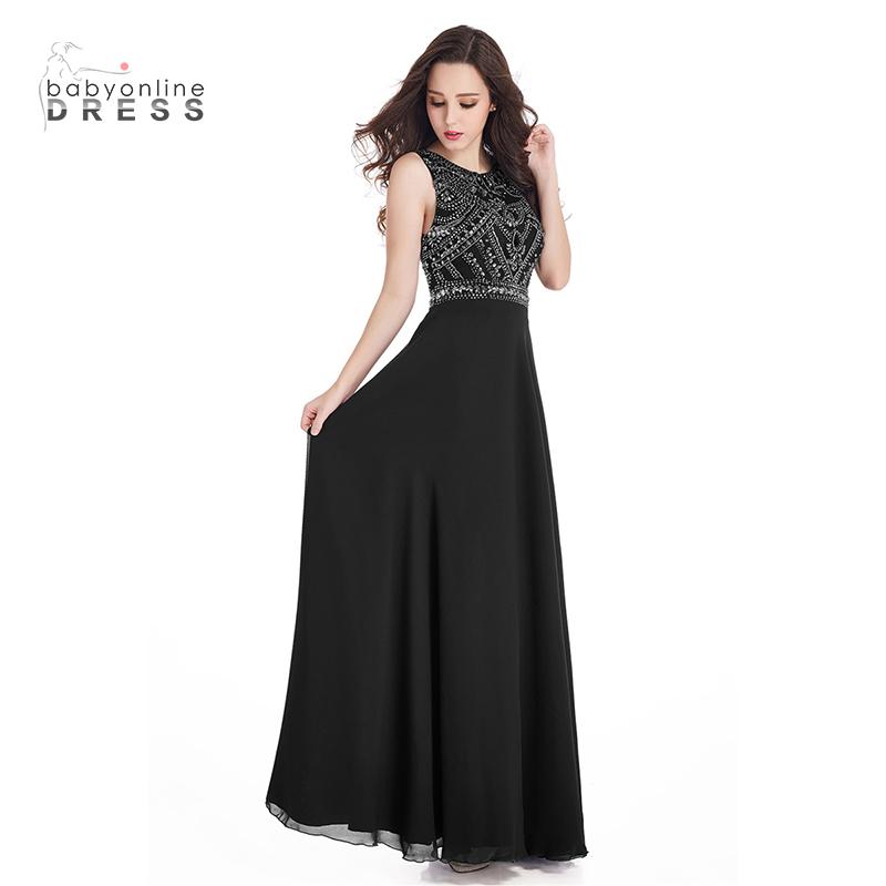 Bridesmaid одевает черное платье милые платья женщин одевает шифоновое платье малыш платье черный US 16 UK 20 EU 46 фото