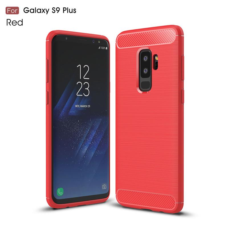 KYKEO Красный Samsung Galaxy S9 Plus Carbon Fiber Phone Case For Samsung Galaxy S9 Plus