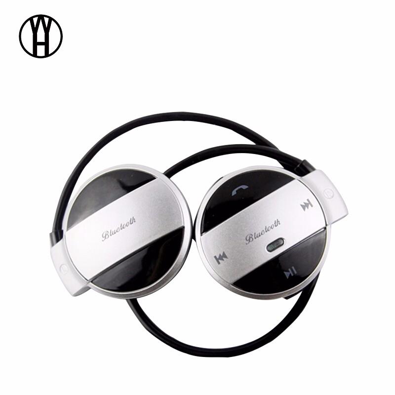 WH Серебряный wh mini501 bluetooth беспроводные портативные наушники спорт музыка гарнитура hd стерео наушники mic для android ios смартфон