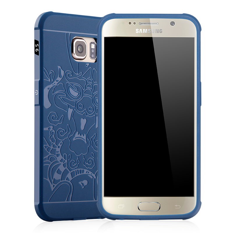 goowiiz Дракон Синий Samsung Galaxy S6 край ultra slim clear phone cases for samsung galaxy s6