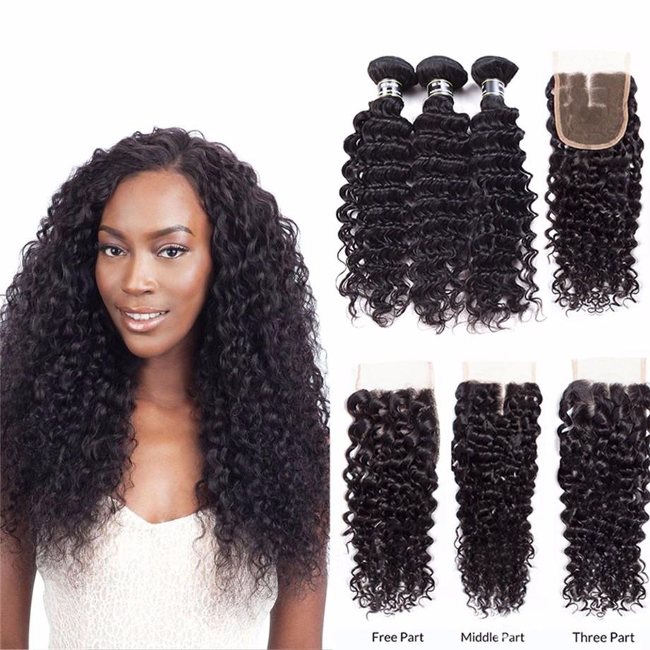 Amazing Star  6 8 10  6 пучки волос с закрытой глубокой волной с укупоркой