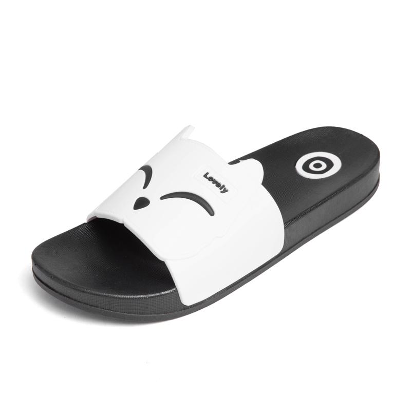 Dayocra белый 13 fashion 2018 emoji women slides summer smile face cute slippers women shoes flip flops sandals beach slides zapatillas mujer