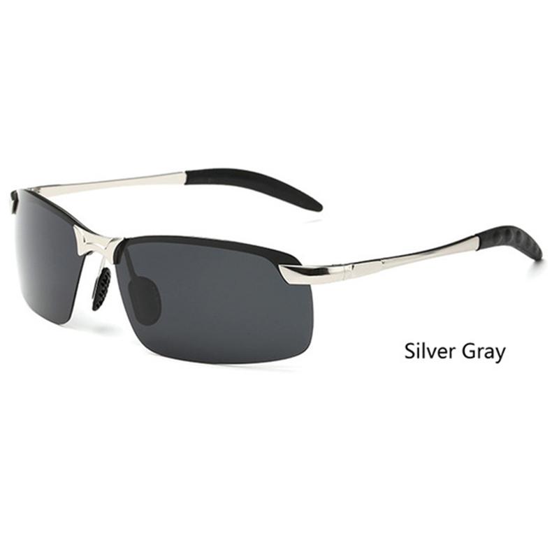 Sisjuly Серебристо-серый Прямоугольник очки водительские