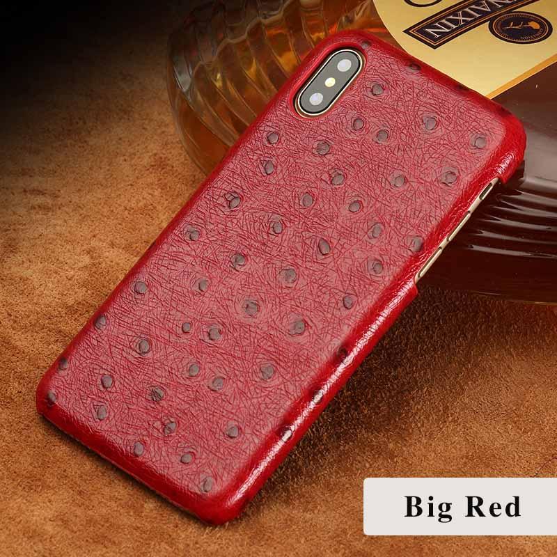 langsidi красный iPhone 6 6s g case ostrich texture card slot leather coated pc case for iphone 6s plus 6 plus black