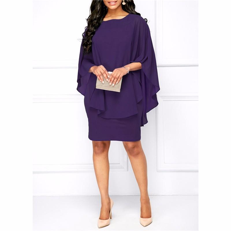 Платье платья шикарное платье женщин платье венчания платья лета SAKAZY Пурпурный XXL фото