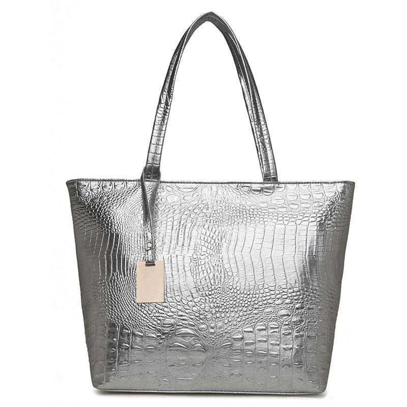 HANEROU Серебряный hong hyun детей xiasuar новую волну женщин сумки дамы моды сумки большой мешок pu женщин синглов сумка сумка черный