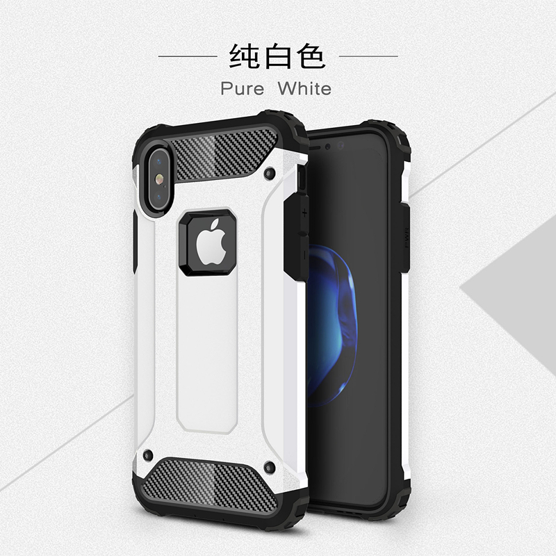 goowiiz белый iphone 78 skid proof drop proof tpu bumper with pc back panel for iphone 7 black