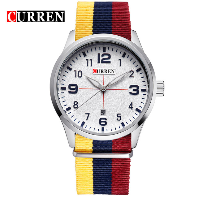 CURREN 04 часы nixon porter nylon gold white red