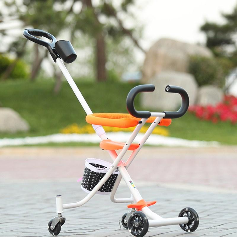 Пять колес Портативная складная детская коляска Синий цвет 2 - 4 года фото