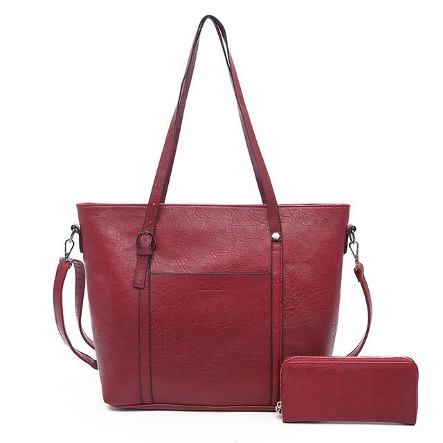 SMOOZA красный большой горячие корейской леди женщины хобо кожа pu посланника плеча сумки totes кошелек