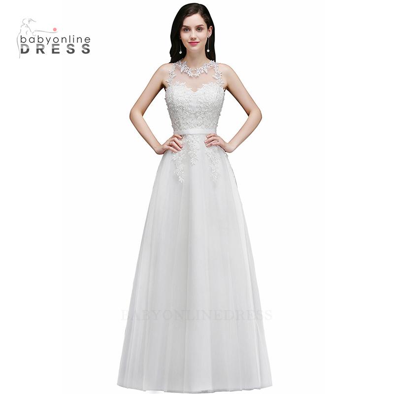 Babyonlineress Sexy Sheer Backless Lace Русалка белое свадебное платье с отрядом малыш платье слоновая кость США 4 Великобритания 8 ЕС 34 фото