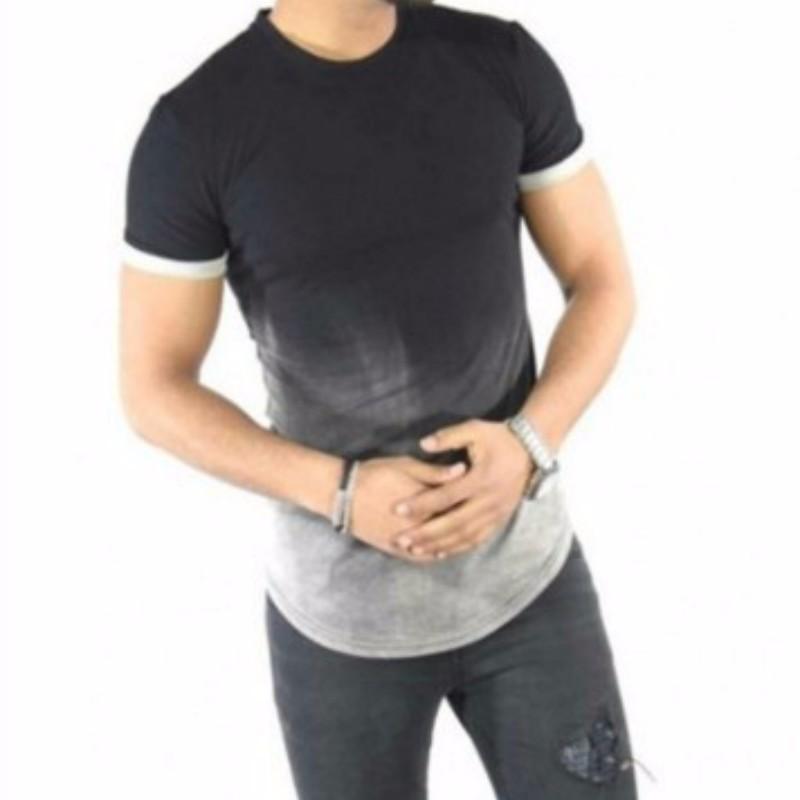 Молодежная мода черные футболки летние футболки мужская мода Повседневная футболка шорты Xuanxuan diary Серый M фото
