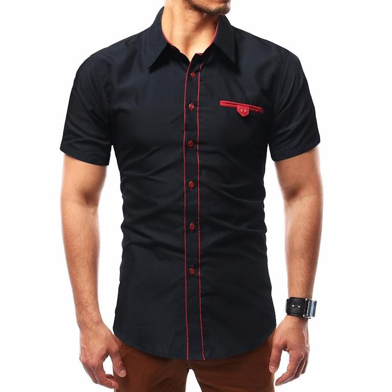 Лето коротким рукавом Частное Культивирование Личность рубашка Повседневная мода воротник Xuanxuan diary Black L фото