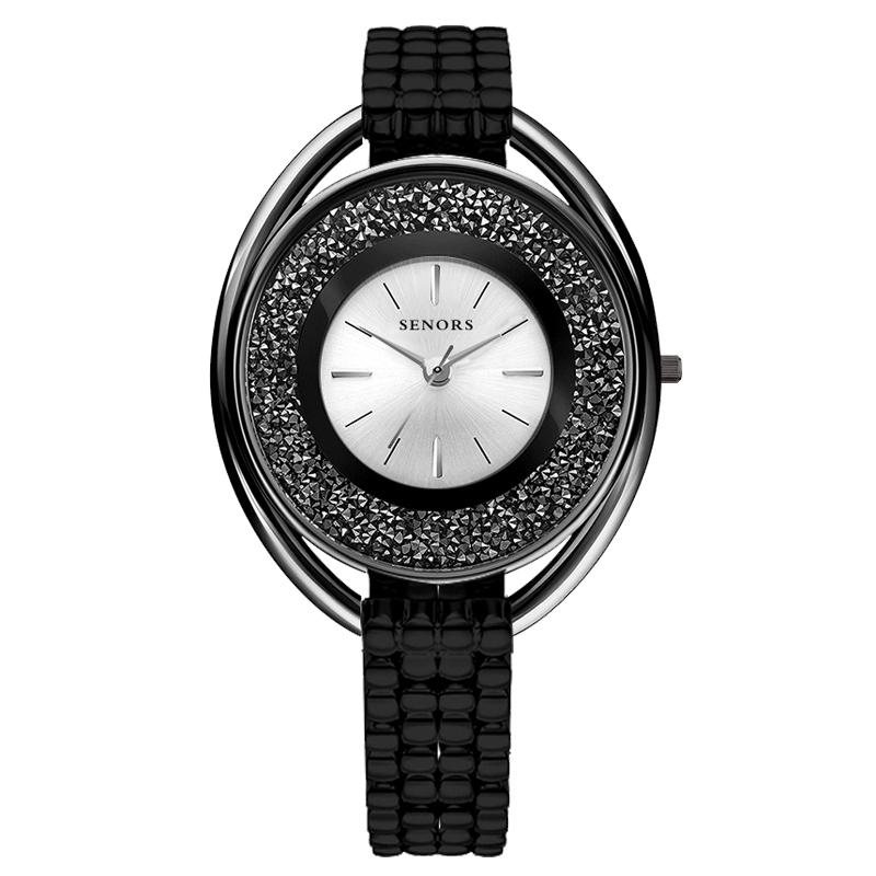 SENORS черный часы наручные женские mikhail moskvin каприз цвет черный 600 11 4