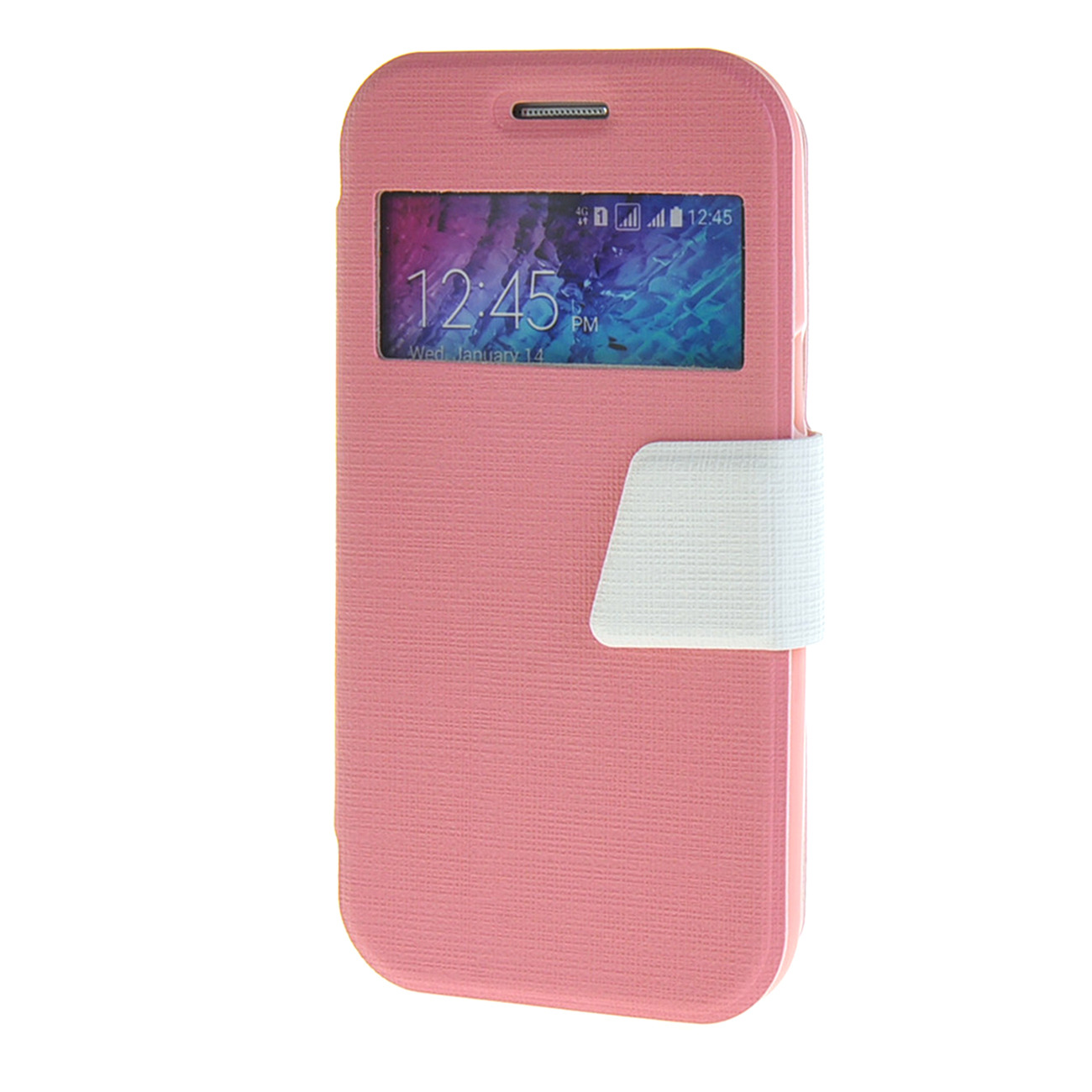 MOONCASE mooncase чехол для samsung galaxy e7 e700 slim view window leather flip bracket back cover white