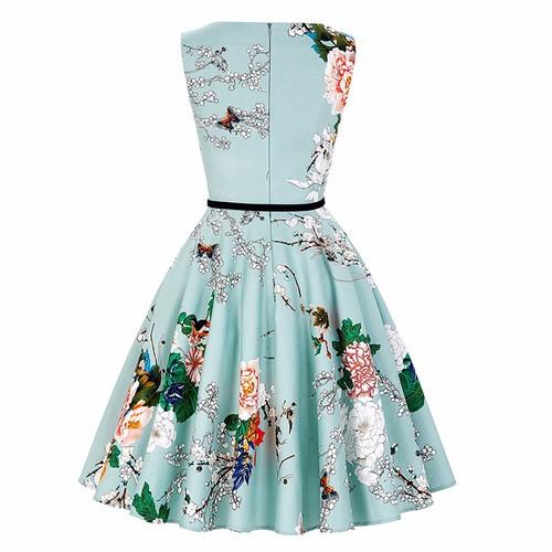 Платье платья элегантное платье женщин летнее платье SAKAZY Голубое небо XL фото