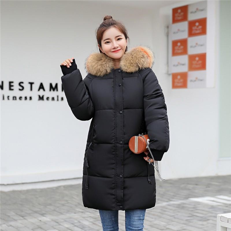 XYPANDA черный L 2017 зима мода новый дамы хлопок пальто длинный хлопок куртка куртка толстый хлопок куртка