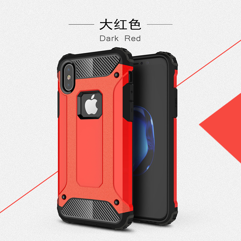 goowiiz красный iphone 78 skid proof drop proof tpu bumper with pc back panel for iphone 7 black