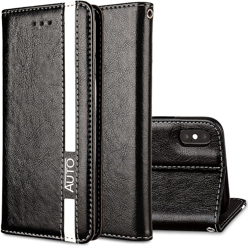 Iphone x чехол для кошелька черный iphone x кошелек для мужчин iphone x чехол для кошелька JYSS черный iPhone X фото